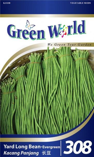 Green World Yard Long Bean - Evergreen