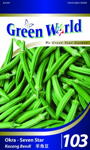 Green World Okra - Seven Star