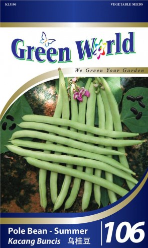 Green World Pole Bean - Summer