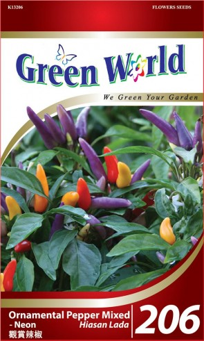 Green World Ornamental Pepper Mixed - Neon