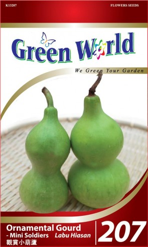 Green World Ornamental Gourd - Mini Soldiers