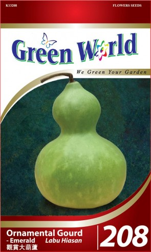 Green World Ornamental Gourd - Emerald