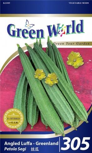 Green World Angled Luffa - Greenland