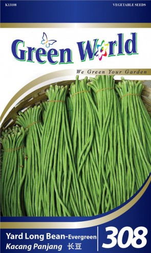 Green World Yard Long Bean - Evergreen