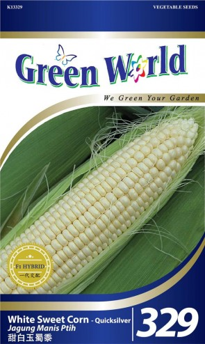 Green World White Sweet Corn - Quicksilver