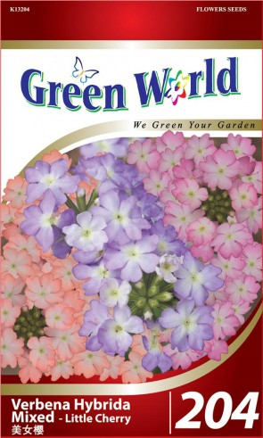 Green World Verbena Hybrida Mixed - Little Cherry